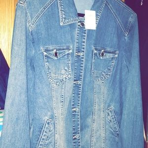 Chico's Jean Jacket Brand New with Tasseles